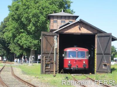 Historischer Schienenbus auf der Eisenbahn Rinteln-Stadthagen