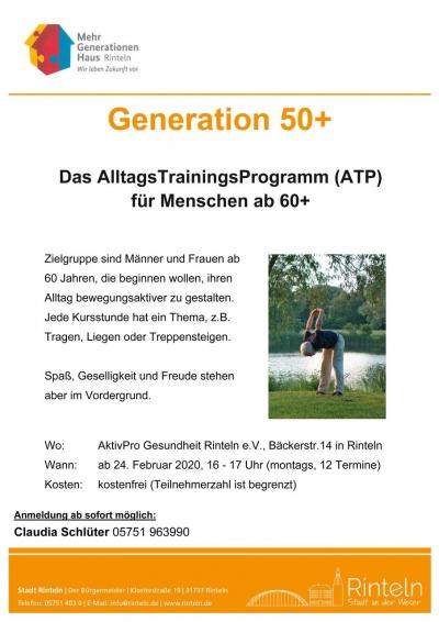 Das AlltagsTrainingsProgramm für Menschen ab 60+